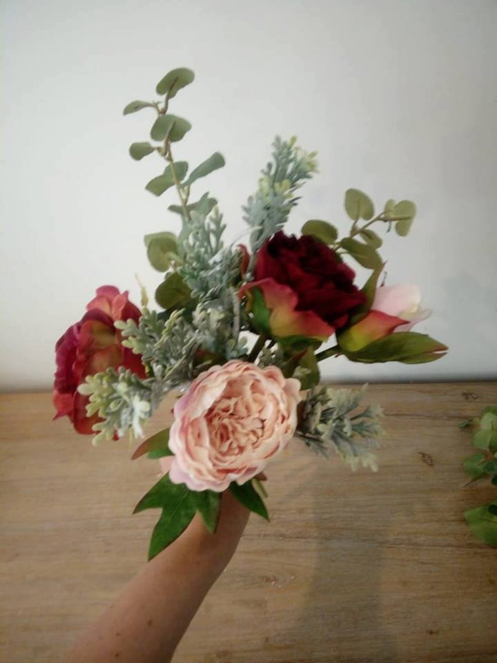 Ruby Red/Burgundy and Blush Bouquet Tutorial... 18